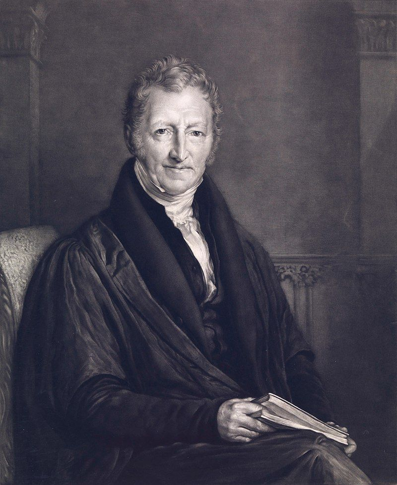 Malthus - By John Linnell - Wikipedia Commons