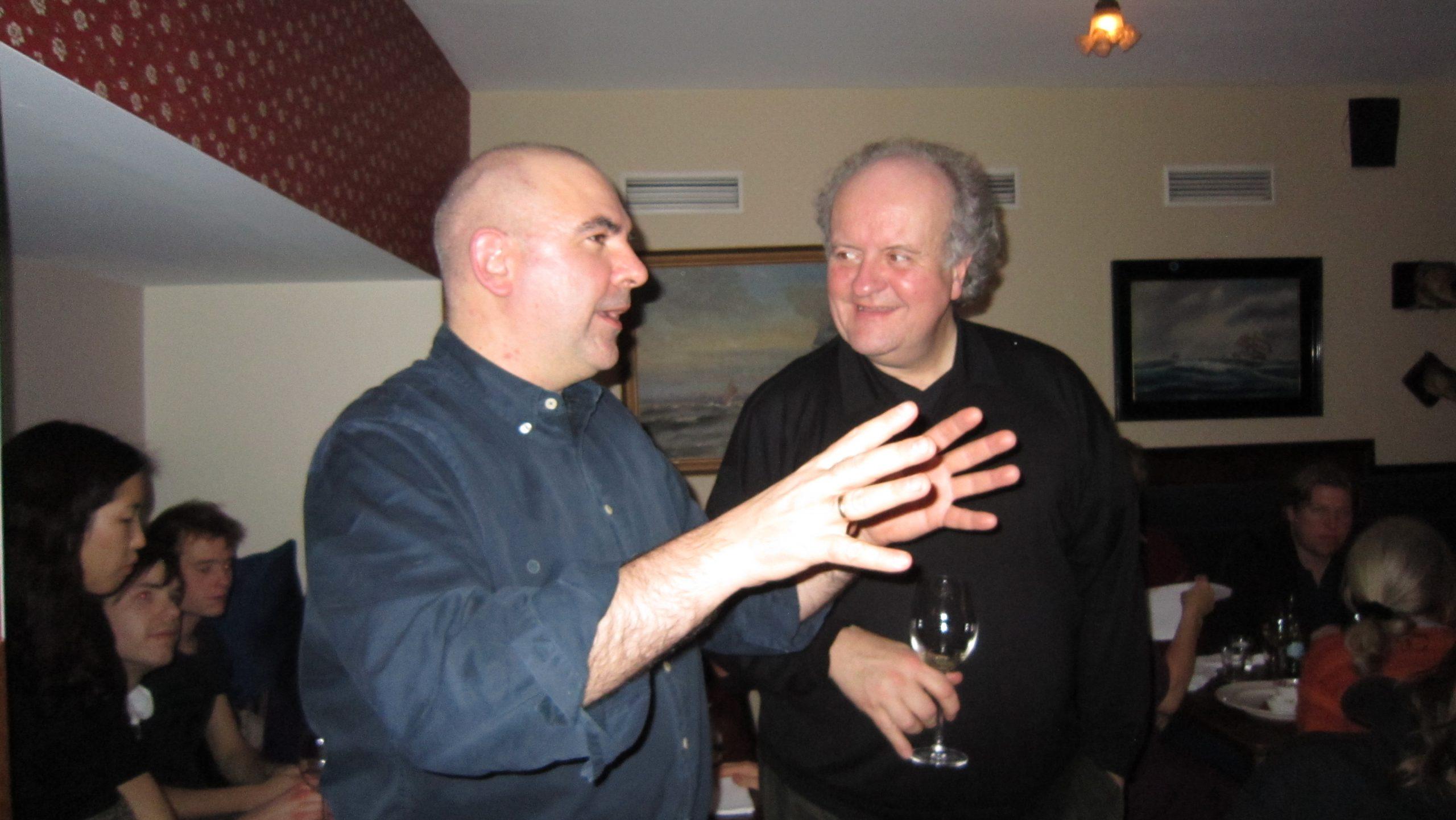 Juscheld compositor del Oratorio Apocalypsis Iesu con Wolfgang Rhim en el festival de Rostock, Alemania