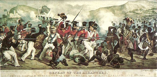 Defeat of the Ashantees, by the British forces under the command of Coll. Sutherland, July 11th 1824 (Commons)
